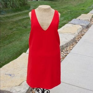 Bright red cutout dress